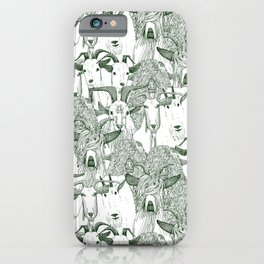 just goats dark green iPhone Case
