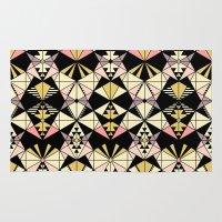 kaleidoscope Area & Throw Rugs featuring Kaleidoscope by Kimsa