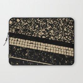 Terrazzo Pattern Black & Gold Sepia #1 #texture #decor #art #society6 Laptop Sleeve