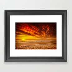 Sunrise over the Atlantic from the Outer Banks, North Carolina Framed Art Print