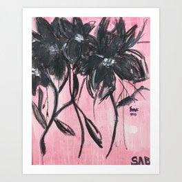 COSMOS BLOOD(BLACK&PINK) Art Print