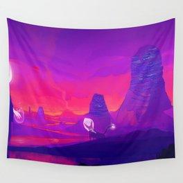 Alien planet Wall Tapestry