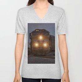 Twilight Freight Train Unisex V-Neck