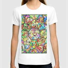 Mickey Mouse and Friends - Stained Glass Window Collage T-shirt