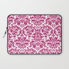 Elegant Damask Pattern (fuchsia) Laptop Sleeve