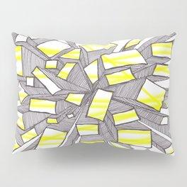 Yellow Fragmentation Pillow Sham