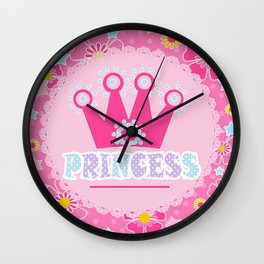 """For the little Princess. From the series """"Gifts for kids"""" . Wall Clock"""