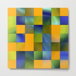 square pattern colorvariation -1- Metal Print