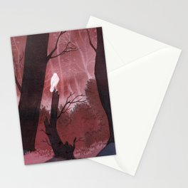 White crow in automn Stationery Cards