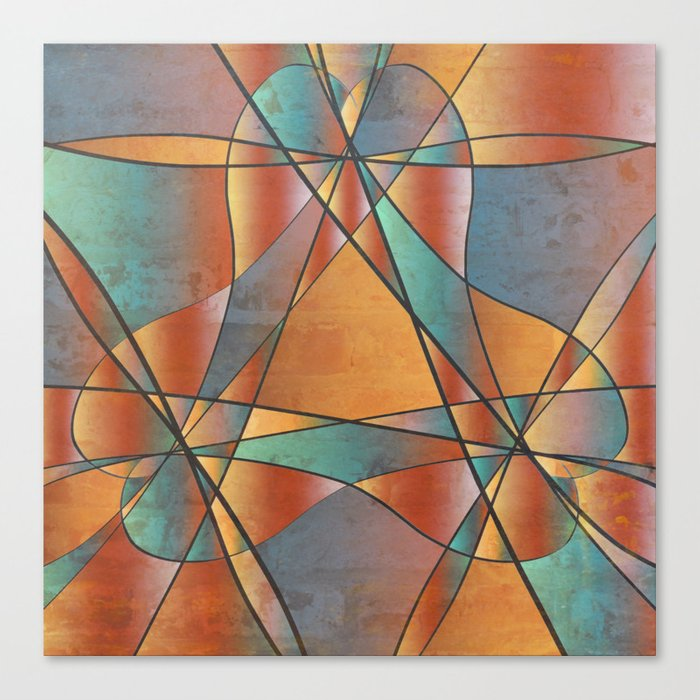 Sedona Glass Abstract Canvas Print