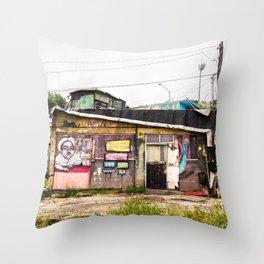 Casita de Colores Throw Pillow