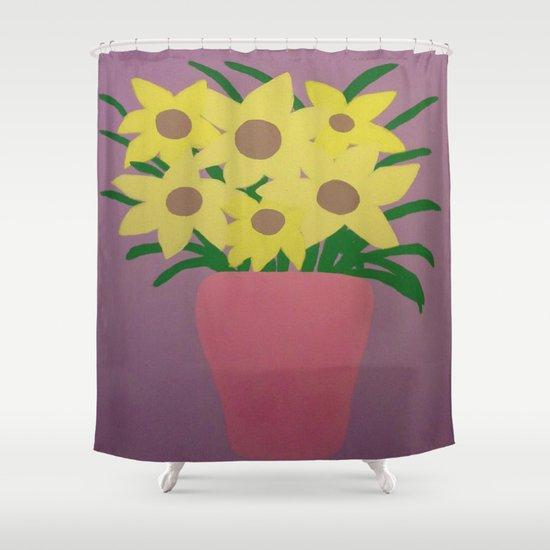 Modern Still Life Shower Curtain By Danielle Gensler