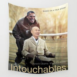 """Putin And Obama in """"Les Intouchables"""" Wall Tapestry"""