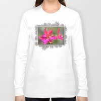 grafitti Long Sleeve T-shirts featuring Zonal Stellar Geranium named Grafitti Violet by JMcCombie