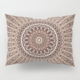 Cappuccino mandala Pillow Sham
