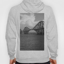 Forth Bridge Scotland Black & White Hoody