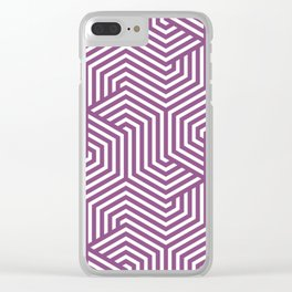 Razzmic Berry - violet - Minimal Vector Seamless Pattern Clear iPhone Case