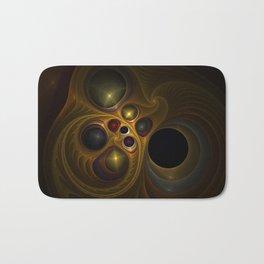 Colorful abstract fractal Bath Mat