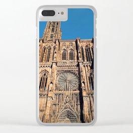 Notre Dame de Strasbourg Clear iPhone Case