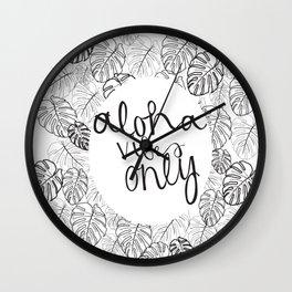 aloha vibes only Wall Clock