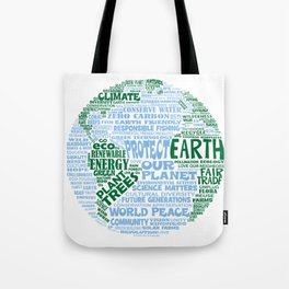 Protect Earth Word Bubble Tote Bag