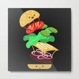 Extreme Burger Making Metal Print