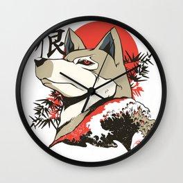 Japanese Wolf Wall Clock