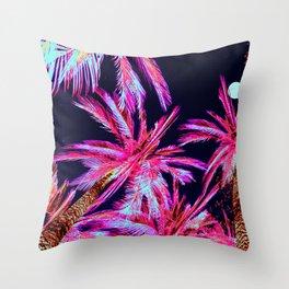 Moonlit Plants Throw Pillow