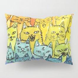 the pride cat rainbow  squad Pillow Sham