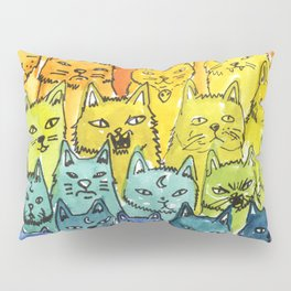 the pride cat rainbow  squad Pillow Sham