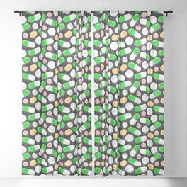 Deadly Pills Pattern Sheer Curtain