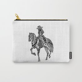 AfetMirzayeva Graphic Drawing Illustration Horse Black Artwork Carry-All Pouch