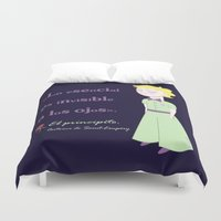 the little prince Duvet Covers featuring Cute little prince by Pendientera