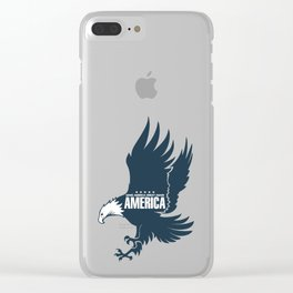 Make America Great Again Eagle, USA Clear iPhone Case