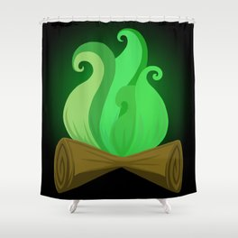 Toxic fire Shower Curtain