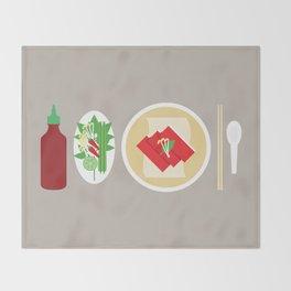 Sriracha Meal Throw Blanket