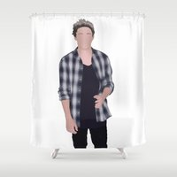 niall horan Shower Curtains featuring NIALL HORAN by Samantha Anderson