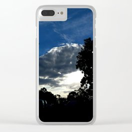 Sun behind the cloud Clear iPhone Case