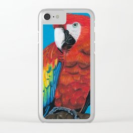 Scarlet Macaw Clear iPhone Case