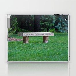 Lourdes University- Make Me an Instrument of Your Peace Laptop & iPad Skin