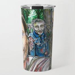 Richonne and 3 random zombies Travel Mug