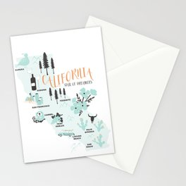 California Map Stationery Cards
