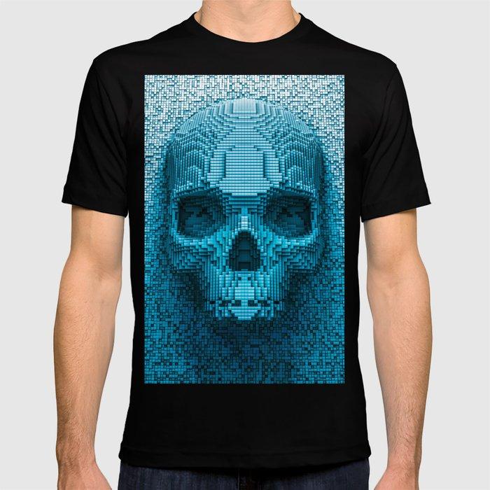b650a5314 Pixel skull T-shirt by grandeduc | Society6