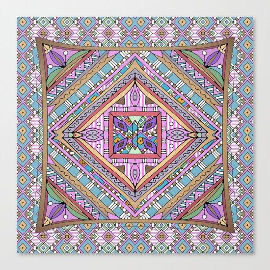 Sweet Funky Retro Mandala Canvas Print