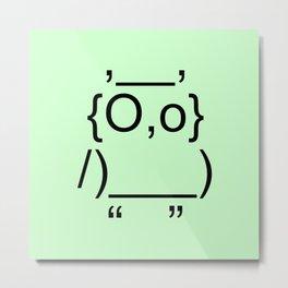 Text Owl Metal Print