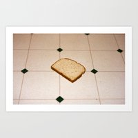 bread Art Prints featuring bread by jacob rattin