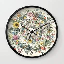 Circle of Life Cream Wall Clock