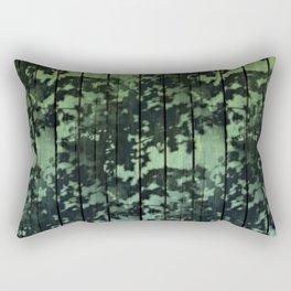 Leaf Shadows on Deck - green2turquoise Rectangular Pillow