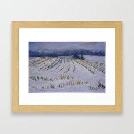 Un monde feutré Framed Art Print