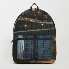 Chicago Skyline, Skyscrapers, Sunset Backpack